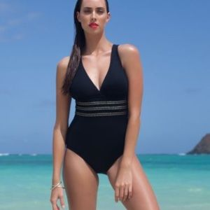 La Blanca studded strappy swimsuit
